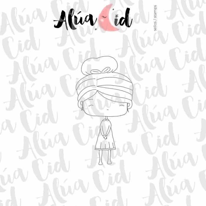 mini sello pequeña ARI Alúa Cid scrapbook niña magia hada La esquinita del scrap México 1