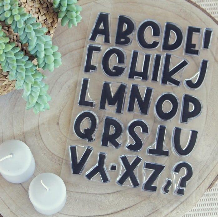 sello alfabeto bunch sólido colección TRAVEL Alúa Cid scrapbooking viajes vacaciones La esquinita del scrap México