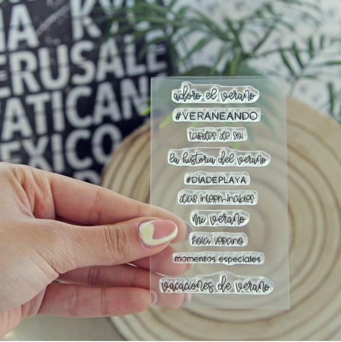 sello momentos de verano colección TRAVEL Alúa Cid scrapbooking viajes vacaciones La esquinita del scrap México 2