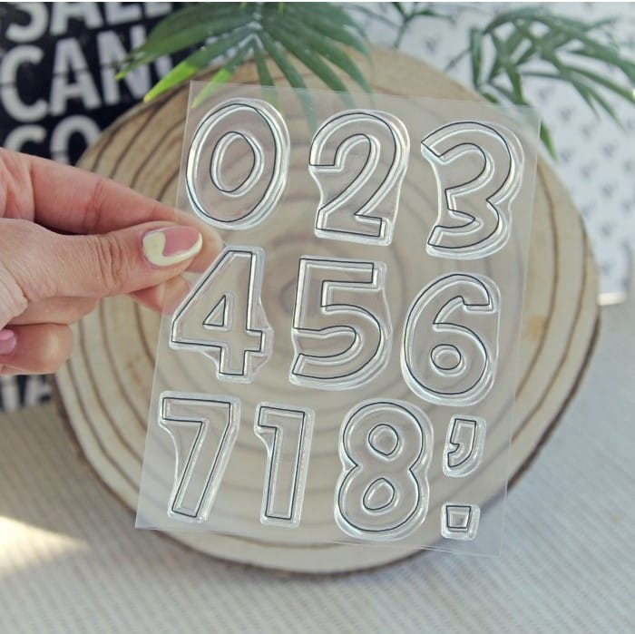 sello números brady contorno colección TRAVEL Alúa Cid scrapbooking viajes vacaciones La esquinita del scrap México