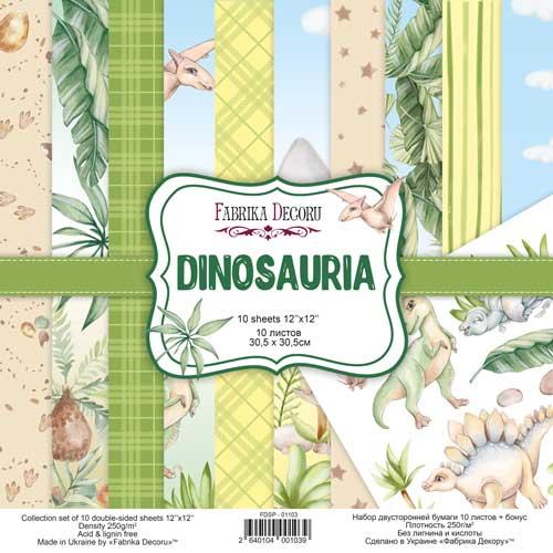 DINOSAURIA 12x12 dinosaurios infantil bebé niños Fabrika Decoru scrapbook La esquinita del scrap México
