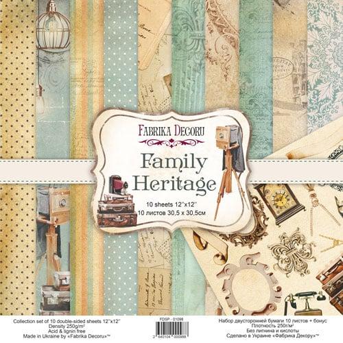 FAMILY HERITAGE 8x8 familia herencia vintage Fabrika Decoru scrapbook La esquinita del scrap México