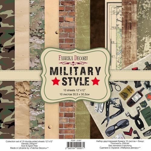 MILITARY STYLE 12x12 hombres militar camuflaje Fabrika Decoru scrapbook La esquinita del scrap México