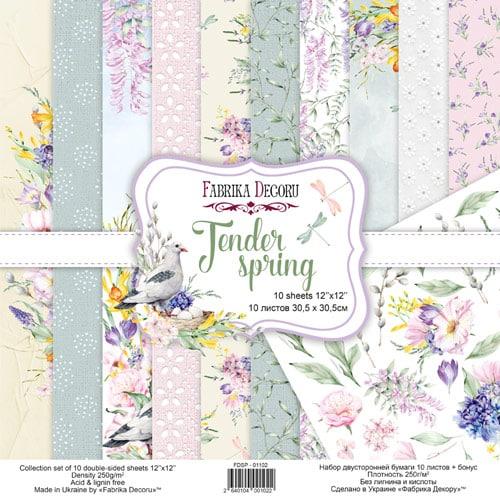 TENDER SPRING 12x12 primavera flores romántico Fabrika Decoru scrapbook La esquinita del scrap México