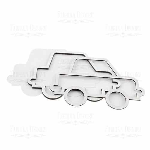 FDSKR-014 shaker coche carro automovil scrapbook La esquinita del scrap México