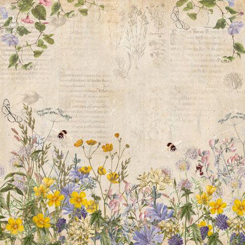 Summer Botanical Diary Fabrika Decoru scrapbooking flores jardín La esquinita del scrap México