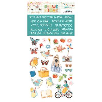 stickers PIQUE NIQUE Quim Díaz Basiccrea scrapbook picnic La esquinita del scrap México