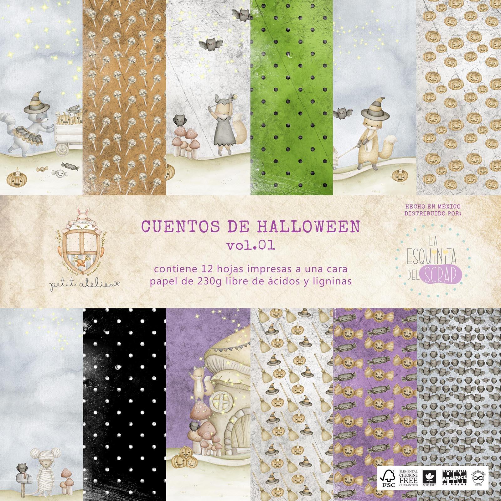 portada colección cuentos de Halloween vol.01 scrapbook La esquinita del scrap México 1